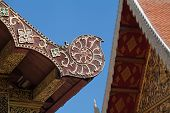 pic of gable-roof  - Gable apex on the roof of temple - JPG