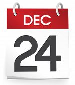 picture of 24th  - December 24th Calendar Vector - JPG