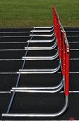 picture of 8-track  - Eight Red Hurdles on a Black Track - JPG