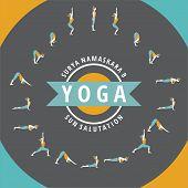 stock photo of salute  - Yoga poses - JPG