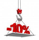foto of crane hook  - Percent On Crane Hook - JPG