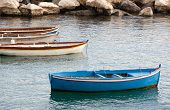 stock photo of sloop  - Old fishing boats in the Gulf of Naples - JPG