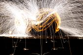 foto of fire  - Fire Show Flaming Trails - JPG