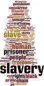 pic of slavery  - Slavery word cloud concept - JPG