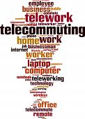 picture of telecommuting  - Telework In Germany word cloud concept - JPG