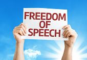 pic of freedom speech  - Freedom of Speech card with a beautiful day - JPG