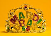 foto of carnivale  - colorful Mardi Gras crown decoration - JPG