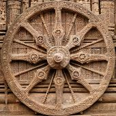 pic of surya  - View on the ancient Surya Hindu Temple Sun Temple at Konarak Orissa India - JPG