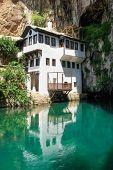image of sufi  - Dervish house in Blagaj Buna near to Historical Mostar in Bosnia and Herzegovina  - JPG