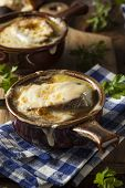 picture of french toast  - Homemade French Onion Soup with Cheese and Toast - JPG