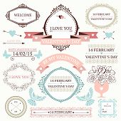 foto of decorative  - Vector set of decorative design elements for valentine - JPG