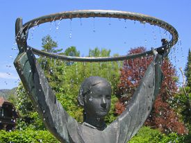 image of mozart  - This charming fountain in the Austrian village of St - JPG