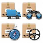 picture of ship steering wheel  - Shipment Icons Set 11 - JPG