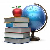 image of geography  - Apple books globe blank global knowledge geography wisdom literature icon studying symbol concept - JPG