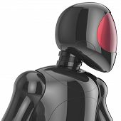 picture of cyborg  - Cyborg bot robot futuristic artificial dummy black metallic concept - JPG