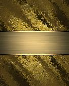 picture of nameplates  - Abstract rich gold background with gold nameplate - JPG