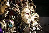 picture of venice carnival  - Typical colorful masks from the venice carnival - JPG