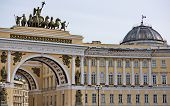 pic of winter palace  - View of gate to Palace Square St - JPG