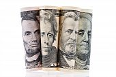 U.s. Dollars Bills. Portraits.