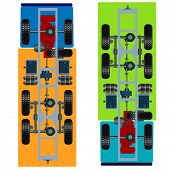 image of suspension  - The truck suspension - JPG