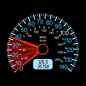 picture of mph  - car speedometer for racing design - JPG