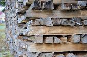 stock photo of bohemia  - chopped wood border - JPG