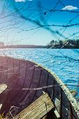 Постер, плакат: Old Rowing Boat And A Lake