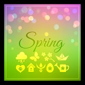 picture of spring-weather  - Seasons background with spring weather - JPG