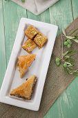 stock photo of baklava  - Mediterranean traditional pastries  - JPG