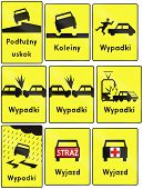 picture of accident emergency  - Collection of additional Polish road warning signs - JPG