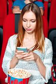 stock photo of sms  - Texting to friends - JPG