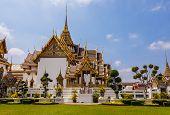 pic of royal palace  - Phra Thinang Dusit Maha Prasat in Royal Palace Bangkok Thailand - JPG