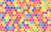 stock photo of hexagon pattern  - colorful hexagon background - JPG