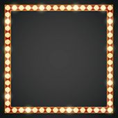picture of light fixture  - Dark red gold colored vector retro looks frame template - JPG