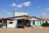 foto of motel  - Forgotten motel which needs refurbishing taken in rural New Mexico - JPG