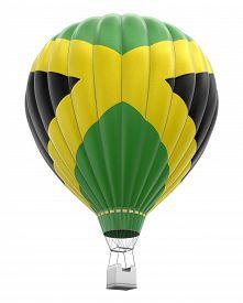 image of jamaican flag  - Hot Air Balloon with Jamaican Flag - JPG
