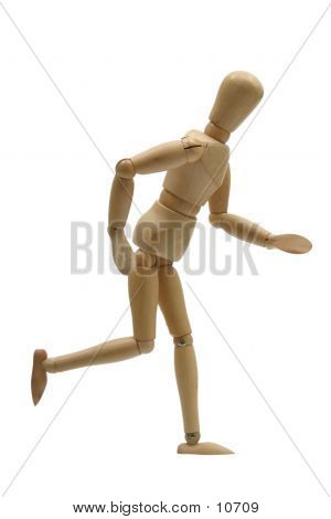 Running Mannequin Side poster