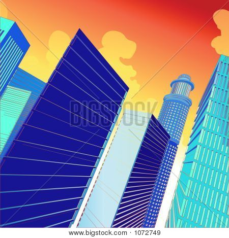 poster of 3D Vector City
