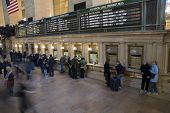 stock photo of amtrak  - ticket office area of grand central station in nyc usa - JPG