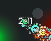 pic of new years celebration  - abstract new year 2011 colorful design - JPG