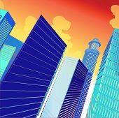 3D Vector City poster