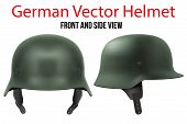 Military German helmet of WW2 poster