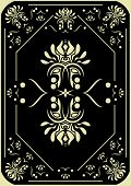 pic of playing card  - Decorative pattern on a black background - JPG