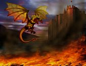 stock photo of dragon  - fire - JPG