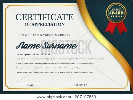 Creative certificate of appreciation award template certificate creative certificate of appreciation award template certificate template design with best award symbol and blue yelopaper Gallery