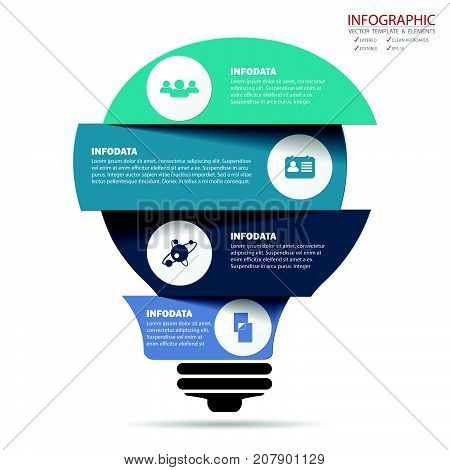 poster of Vector creative business infographics set. Element infographic template for diagram graph presentation and chart. Business concept with options parts steps or processes. Abstract background.