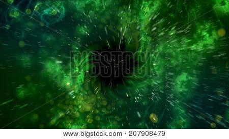 Abstract Spiral Black Hole Illustration