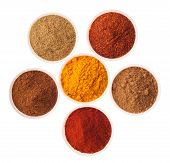 foto of garam masala  - collection of indian spices  - JPG