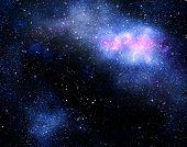 Постер, плакат: Глубокий космос фон с звездами и Туманность