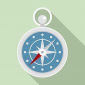 Navigation Ship Compass Icon. Flat Illustration Of Navigation Ship Compass Vector Icon For Web Desig poster